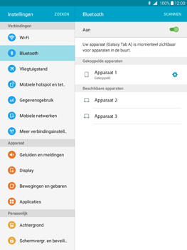 Samsung Galaxy Tab A 9.7 (SM-T555) - Bluetooth - Headset, carkit verbinding - Stap 8