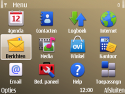 Nokia E72 - MMS - Afbeeldingen verzenden - Stap 2
