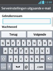 LG E430 Optimus L3 II - E-mail - e-mail instellen: IMAP (aanbevolen) - Stap 19
