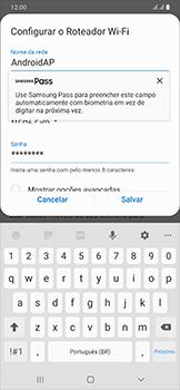 Samsung Galaxy A50 - Wi-Fi - Como usar seu aparelho como um roteador de rede wi-fi - Etapa 9
