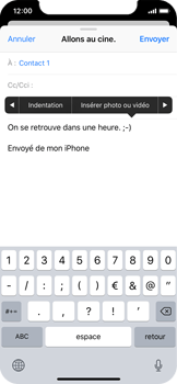 Apple iPhone X - E-mail - envoyer un e-mail - Étape 9