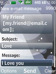 Nokia 7210 supernova - E-mail - Sending emails - Step 9
