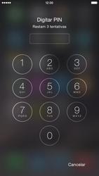 Apple iPhone iOS 8 - Funções básicas - Como reiniciar o aparelho - Etapa 6