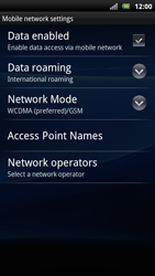 Sony Ericsson Xperia Arc S - Internet - Enable or disable - Step 6
