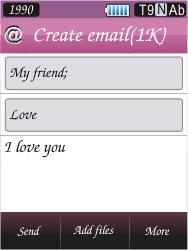 Samsung S7070 Diva - E-mail - Sending emails - Step 10