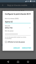 Sony Xperia XZ (F8331) - Internet et connexion - Partager votre connexion en Wi-Fi - Étape 9