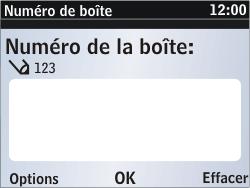 Nokia Asha 302 - Messagerie vocale - Configuration manuelle - Étape 8