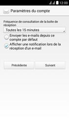 Huawei Y625 - E-mail - Configuration manuelle - Étape 17