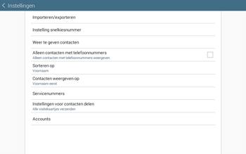 Samsung Galaxy Tab4 10.1 4G (SM-T535) - Contacten en data - Contacten kopiëren van SIM naar toestel - Stap 6