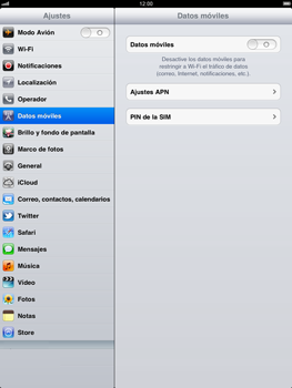 Apple iPad 2 - Internet - Activar o desactivar la conexión de datos - Paso 5