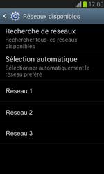 Samsung I8190 Galaxy S III Mini - Réseau - Sélection manuelle du réseau - Étape 9