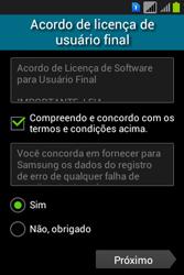Samsung S6293T Galaxy Young Plus - Primeiros passos - Como ativar seu aparelho - Etapa 5
