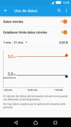 Sony Xperia M4 Aqua - Internet - Ver uso de datos - Paso 9