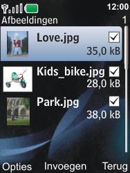 Nokia 6600i slide - E-mail - Hoe te versturen - Stap 13