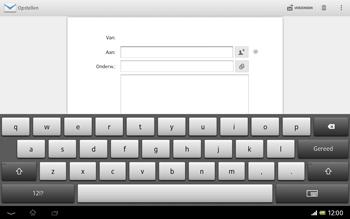 Sony SGP321 Xperia Tablet Z LTE - E-mail - Hoe te versturen - Stap 5
