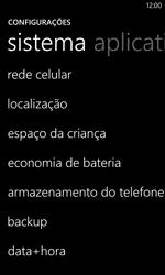 Nokia Lumia 1020 - Rede móvel - Como ativar e desativar uma rede de dados - Etapa 4