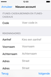 Apple iPhone 4S (iOS 9) - apps - account instellen - stap 20