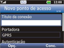 LG C365 - Internet - Como configurar seu celular para navegar através de Vivo Internet - Etapa 7
