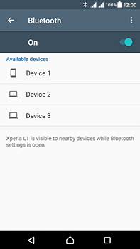 Sony Xperia L1 - WiFi and Bluetooth - Setup Bluetooth Pairing - Step 6