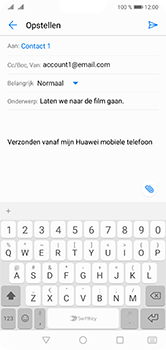 Huawei P20 Lite Dual-SIM (Model ANE-LX1) - E-mail - Bericht met attachment versturen - Stap 8
