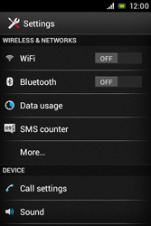Sony C1505 Xperia E - Internet - Enable or disable - Step 4
