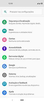 Motorola One Vision - Primeiros passos - Como encontrar o número de IMEI do seu aparelho - Etapa 4