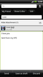 HTC X515m EVO 3D - E-mail - Sending emails - Step 11