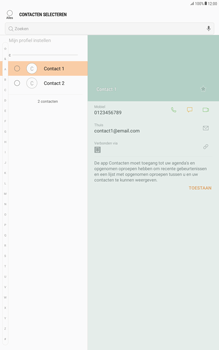 Samsung Galaxy Tab A 10.1 - Android Nougat - Contacten en data - Contacten overzetten via Bluetooth - Stap 6