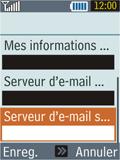 Samsung B2100 Xplorer - E-mail - Configuration manuelle - Étape 20