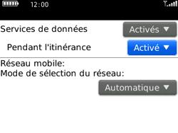 BlackBerry 8520 - Aller plus loin - Désactiver les données à l'étranger - Étape 5
