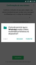 Samsung Galaxy A3 (2017) - Aplicações - Como configurar o WhatsApp -  8