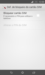 Sony Xperia E1 - Segurança - Como ativar o código PIN do cartão de telemóvel -  6