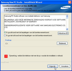 Samsung I8000 Omnia II - Software - PC-software installeren - Stap 16