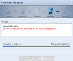 Samsung I5800 Galaxy Apollo - Software - installeer firmware update - Stap 6