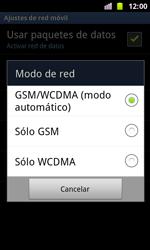 Samsung I8160 Galaxy Ace II - Red - Seleccionar el tipo de red - Paso 7