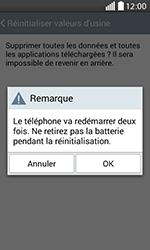 LG H220 Joy - Device maintenance - Retour aux réglages usine - Étape 9