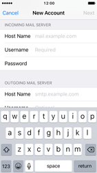 Apple iPhone 5c iOS 10 - Email - Manual configuration - Step 12
