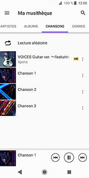 Sony Xperia XZ2 - Photos, vidéos, musique - Ecouter de la musique - Étape 8