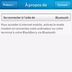 BlackBerry Q10 - Internet et connexion - Utiliser le mode modem par USB - Étape 9