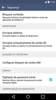LG G4 - Segurança - Como ativar o código PIN do cartão de telemóvel -  6