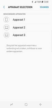 Samsung Galaxy S8 - Contactgegevens overzetten - delen via Bluetooth - Stap 10