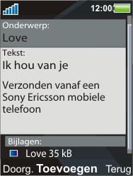 Sony Ericsson C903 - E-mail - Hoe te versturen - Stap 14