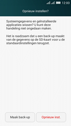 Huawei Y635 Dual SIM - Device maintenance - Terugkeren naar fabrieksinstellingen - Stap 7