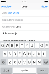 Apple iPhone 4S iOS 7 - E-mail - hoe te versturen - Stap 8