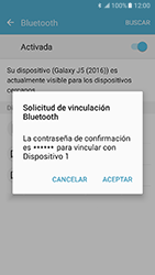 Samsung Galaxy J5 (2016) - Bluetooth - Conectar dispositivos a través de Bluetooth - Paso 7