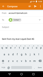 Acer Liquid Zest 4G - Email - Sending an email message - Step 7