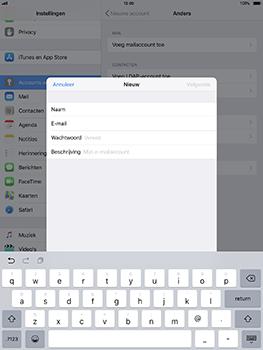 Apple iPad Pro 10.5 inch - iOS 11 - E-mail - Account instellen (IMAP zonder SMTP-verificatie) - Stap 8