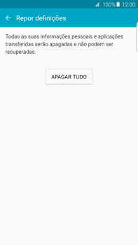 Samsung Galaxy S6 Edge + - Repor definições - Repor definições de fábrica do telemóvel -  8