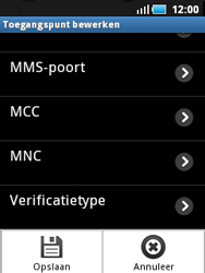 Samsung S5570 Galaxy Mini - Internet - handmatig instellen - Stap 12