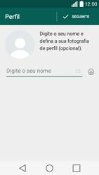 LG Y50 / LEON - Aplicações - Como configurar o WhatsApp -  9